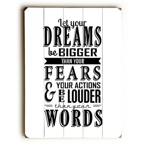 Let Your Dreams - Planked Wood Wall Decor by Nancy Anderson
