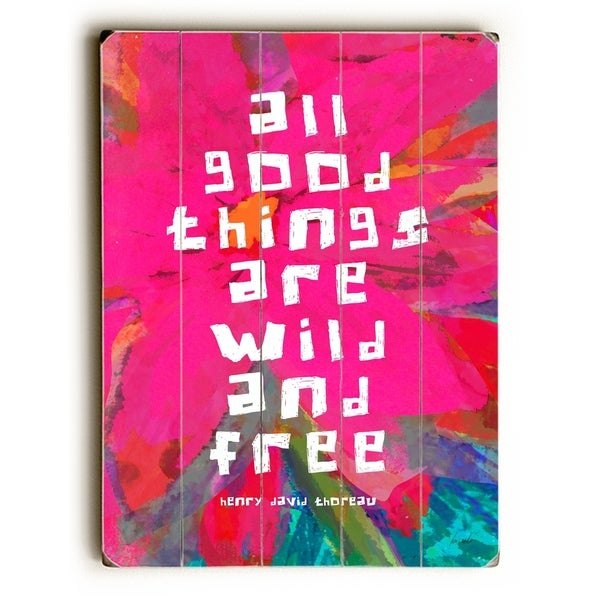 All good things - Planked Wood Wall Decor by Lisa Weedn