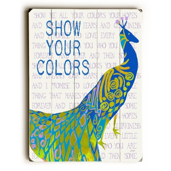 Show Your Colors - Planked Wood Wall Decor by Lisa Weedn