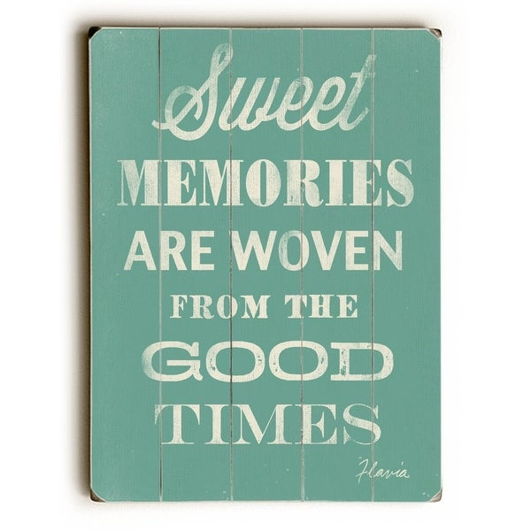 Sweet Memories - Planked Wood Wall Decor by FLAVIA