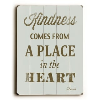 Kindness -   Planked Wood Wall Decor by FLAVIA