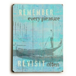 Remember. Revisit.  -   Planked Wood Wall Decor by Lisa Weedn
