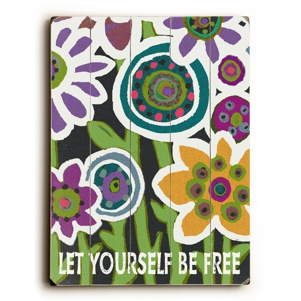 Let Yourself Be Free - Planked Wood Wall Decor by Lisa Weedn