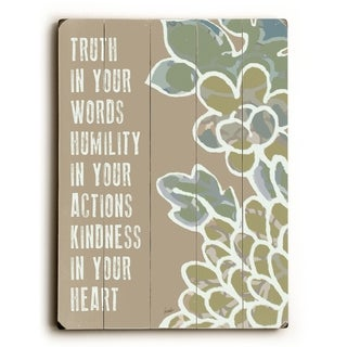 Kindness In Your Heart -   Planked Wood Wall Decor by Lisa Weedn