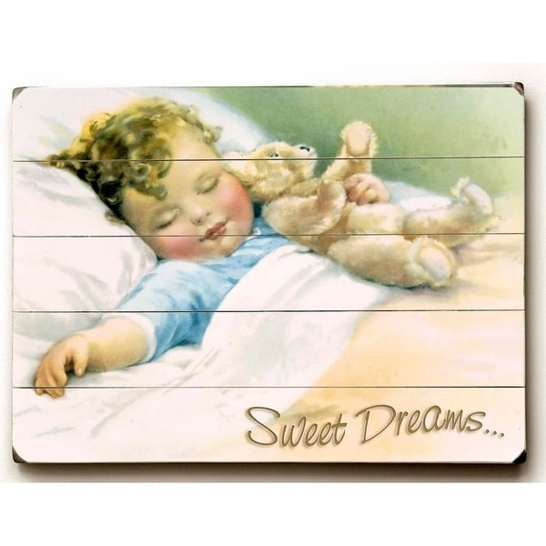 Sweet Dreams - Planked Wood Wall Decor by FLAVIA