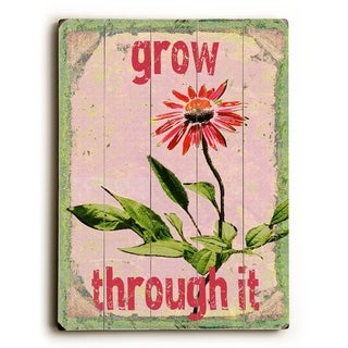 Grow Through It -   Planked Wood Wall Decor by Lisa Weedn