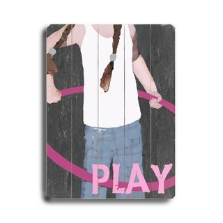 Play -   Planked Wood Wall Decor by Lisa Weedn