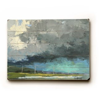 Turquoise Sky -   Planked Wood Wall Decor by Carol Schiff
