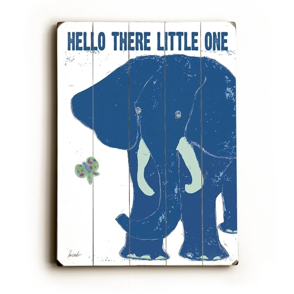 Hello There - Planked Wood Wall Decor by Lisa Weedn