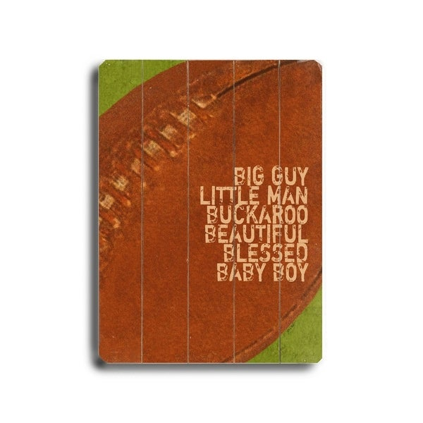Big Guy, Little Man - Planked Wood Wall Decor by Lisa Weedn