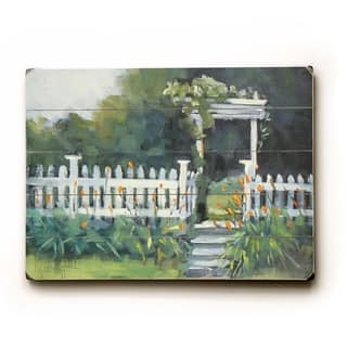 White picket fence - Planked Wood Wall Decor by Carol Schiff