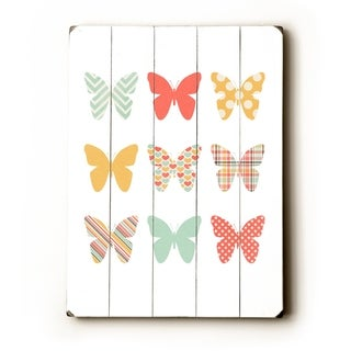 Butterflies -   Planked Wood Wall Decor by Cheryl Overton