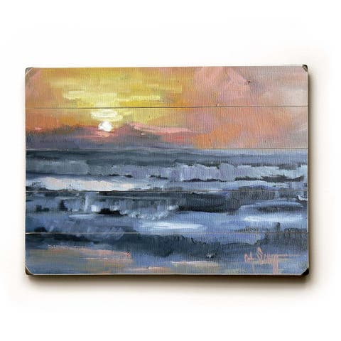 California Sunset - Planked Wood Wall Decor by Carol Schiff