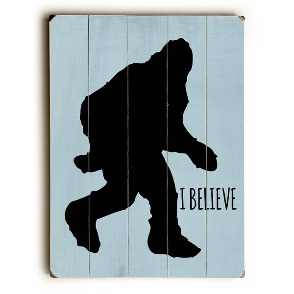 I Believe - Planked Wood Wall Decor by Ginger Oliphant