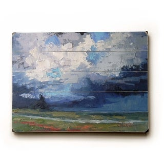 Cloudy Day -   Planked Wood Wall Decor by Carol Schiff