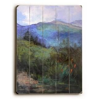 Carol Schiff - 13 -  Planked Wood Wall Decor by  Carol Schiff