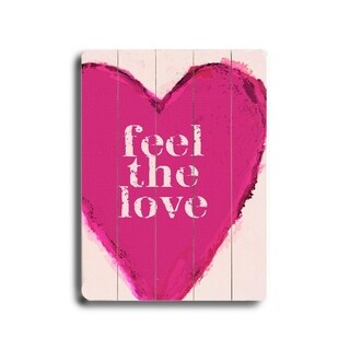 Feel the love -   Planked Wood Wall Decor by Lisa Weedn