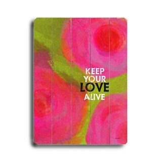 Keep Your Love -   Planked Wood Wall Decor by Lisa Weedn
