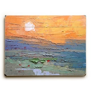 Burnt Sky - Multi  Planked Wood Wall Decor by Carol Schiff