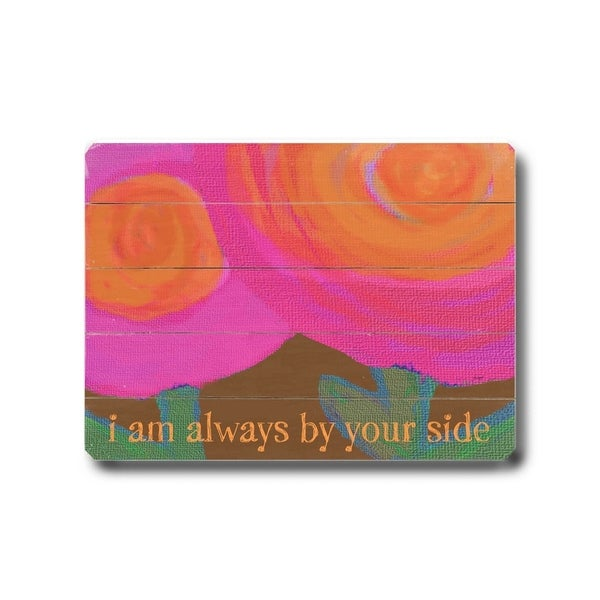 Always by your side - Planked Wood Wall Decor by Lisa Weedn