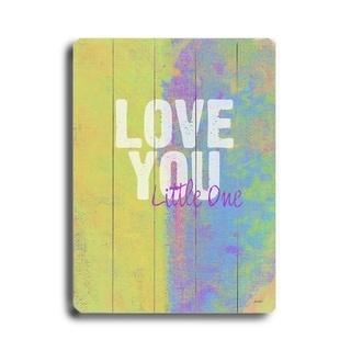 Love you Little One -   Planked Wood Wall Decor by Lisa Weedn