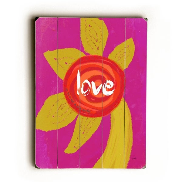 Love - Planked Wood Wall Decor by Lisa Weedn