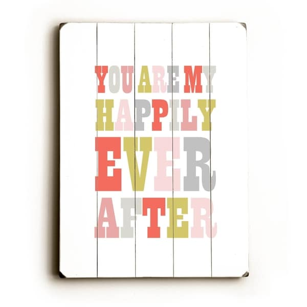 Happily Ever After - Planked Wood Wall Decor by Amanda Catherine