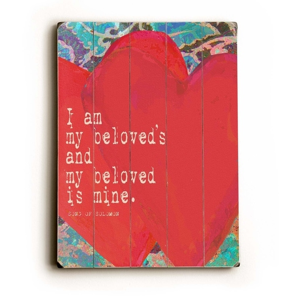 Beloved - Planked Wood Wall Decor by Lisa Weedn