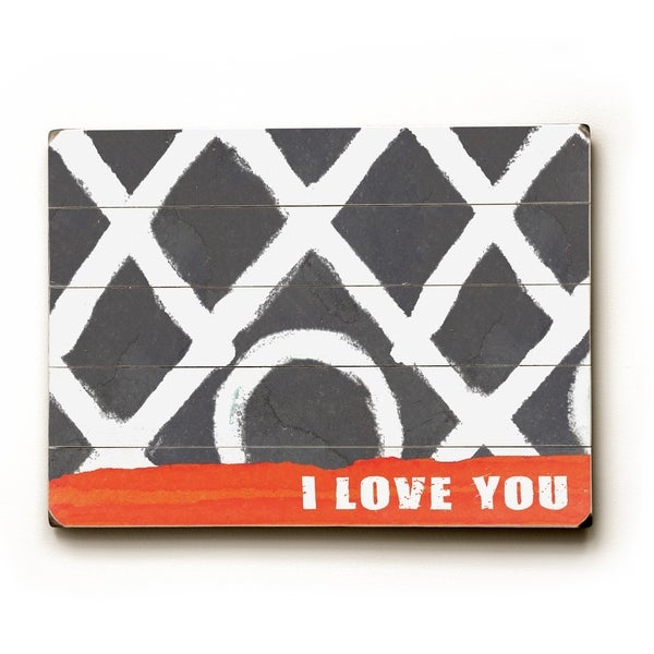 XO i love you - Planked Wood Wall Decor by Lisa Weedn