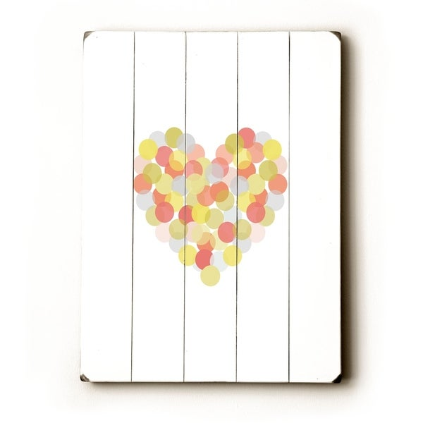 Spotted Love - Planked Wood Wall Decor by Amanda Catherine