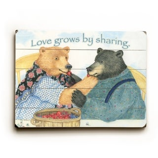 love grows -   Planked Wood Wall Decor by Paris Bottman