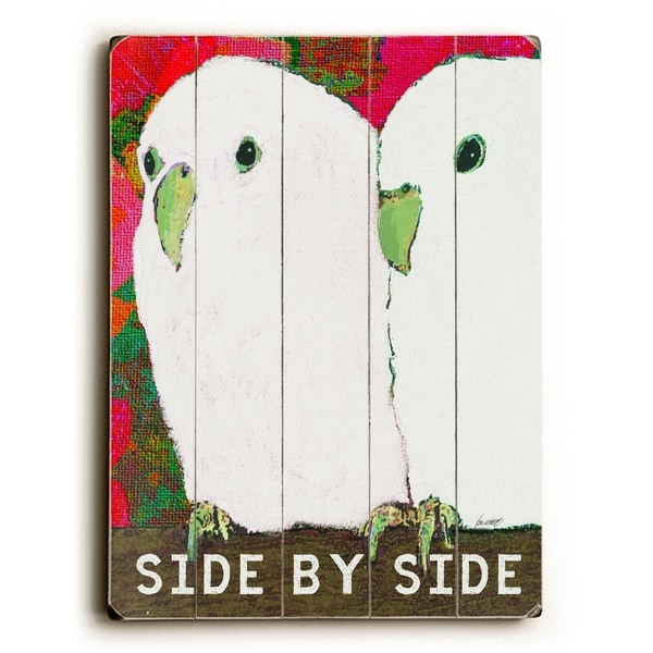 side by side - Planked Wood Wall Decor by Lisa Weedn