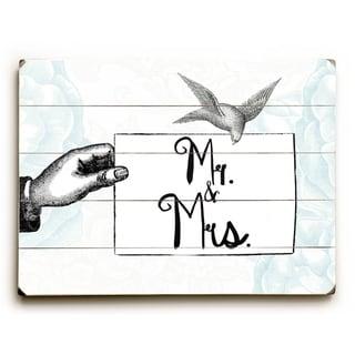 Mr & Mrs -   Planked Wood Wall Decor by Jennifer Rizzo Design