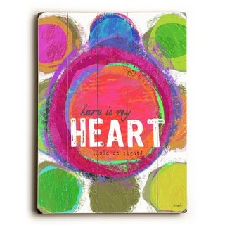 Here Is My Heart -   Planked Wood Wall Decor by Lisa Weedn