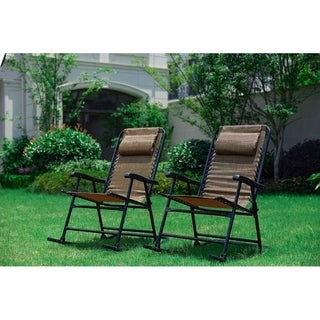 Patio Festival 2-Piece Folding Rocking Chair Set
