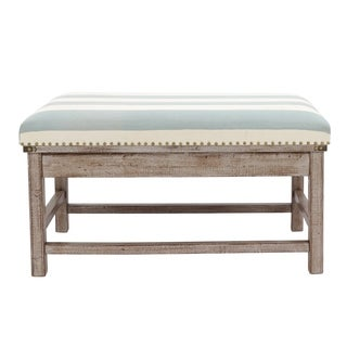 Farley Upholstered Weathered Ottoman