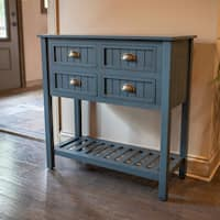 Bailey Bead 4-Drawer Wood Console Table