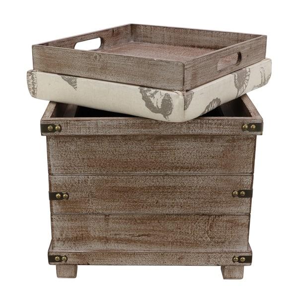Wondrous Shop Hadley Weathered Storage Ottoman On Sale Free Ibusinesslaw Wood Chair Design Ideas Ibusinesslaworg