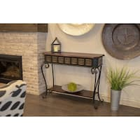Tangier Gold Medallion Metal Console Table