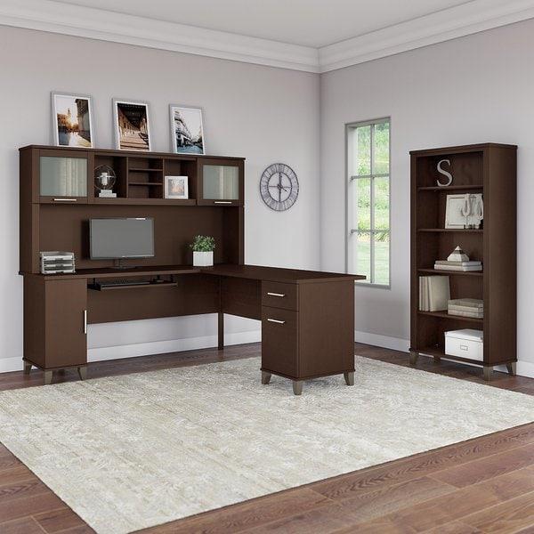 Shop Copper Grove Shumen 72 Inch L Shaped Desk With Hutch