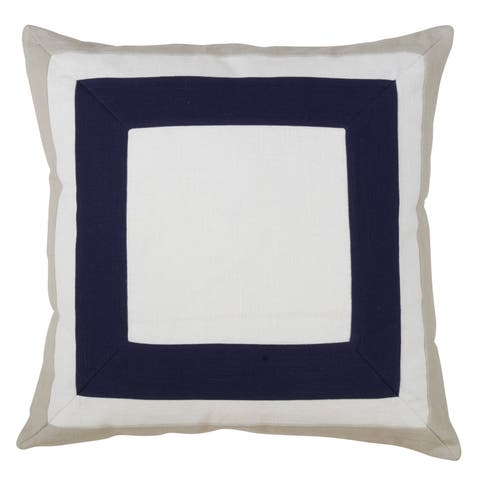 Square Border Design Down Filled Throw Pillow