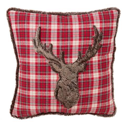 Animal Print Faux Fur Decorative Poly Filled Throw Pillow