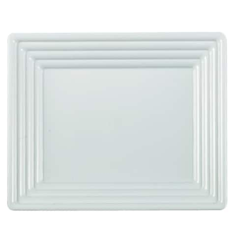 """Plastic Serving Tray Heavyweight Square Platter 12""""X12"""" Disposable or Reusable - For Party's and Weddings"""