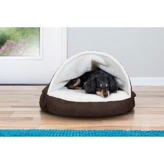 FurHaven Faux Sheepskin Snuggery Cooling Gel Pet Bed