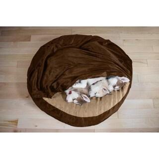 FurHaven Microvelvet Snuggery Cooling Gel Pet Bed