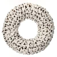 20 Inch Cotton Ball Wreath