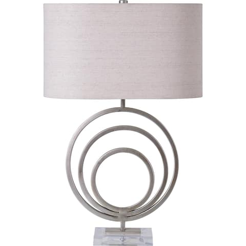 Strick & Bolton Enella Silver Iron/ Acrylic Table Lamp