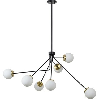 Renwil Margeaux Matte Black and Antique Brass Steel Ceiling Fixture