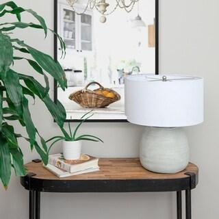 Renwil Caldera Grey Ceramic Table Lamp