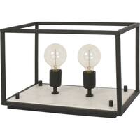 Renwil Cortney Black Iron and White Marble Table Lamp
